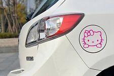 Hello Kitty Specchietto Adesivo Decalcomania Auto 10cm x 10cm Divertente
