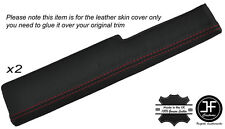 RED STITCHING 2X DOOR SILL ARMREST LEATHER SKIN COVERS FITS CORVETTE C4 84-90