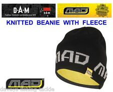DAM MAD KNITTED BEANIE WITH FLEECE FOR SEA GAME COARSE CARP ROD FISHING SPINNING