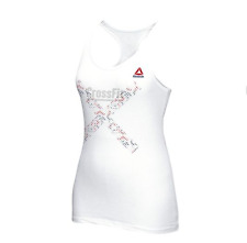 NEW Women's Reebok CrossFit WOD white Fitness Athletic Tank Top Shirt XL