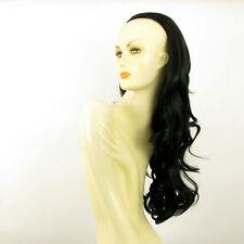 Demi-tête, demi-perruque 65cm noir ref 015 en 1b