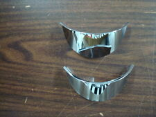 4 1/2 INCH CHROME SPOT LIGHT VISORS FOR HARLEY DAVIDSON