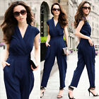 Sexy Ladies Women Cocktail Evening Party V Neck Sleeveless Jumpsuit Romper Pants