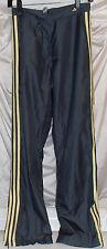 Adidas Gray Polyester Three-Stripe Soccer/Running/Track Warmup Pants Mens Sz S