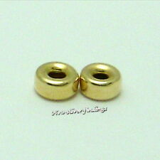 14k Gold Filled 3.2mm 20pcs Smooth Rondell Spacer Beads (Hole:1.0mm)Findings USA
