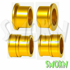 RFX Pro Series Front & Rear Wheel Spacers Suzuki RMZ 250 450 07-16 Yellow/Gold