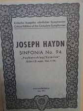 MINI POCKET punteggio Haydn, Sinfonia n. 94, paukenschlag / sorpresa, G Major, philha