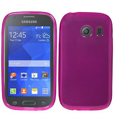 Straight Talk Samsung Galaxy ACE TPU CANDY Hard Gel Flexi Skin Case Phone Cover