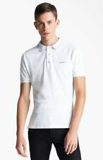 New Burberry London Adler White/Gray Tipped Polo Shirt $250.00 *Sold Out*
