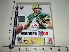 EA Madden 09 NFL / Sony Playstation 3 (PS3) - Brett Favre cover - Excellent