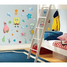 45 New SPONGEBOB SQUAREPANTS WALL DECALS Kids Bedroom Stickers Room Decorations