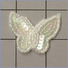 SEQUIN BEADED BUTTERFLY APPLIQUE 0408-T1