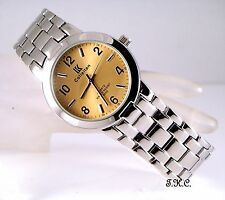 Retro Designer Soft Gold & Silver Rhodium Plated Gents Classic Dress Wrist Watch