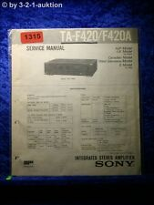 Sony Service Manual TA F420 / F420A Amplifier (#1315)