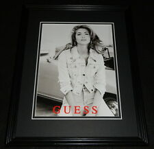 Vintage Guess Clothing Framed 11x14 ORIGINAL Advertisement