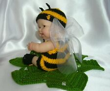 "5"", 8"", 10"" Berenguer doll's outfit knitting PATTERN  Buzzy Bee"