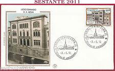 ITALIA FDC FILAGRANO GOLD 1991 LICEO GINNASIO AZUNI SASSARI ANNULLO TORINO T961