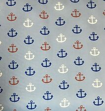 """3 yards 100% Cotton Red White and Blue anchors. 58"""" Width"""