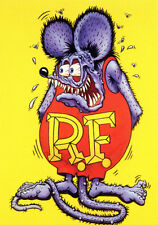 1960s Ed Roth's RAT FINK RF cartoon character replica magnet - new!