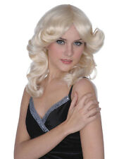 Sexy Long Glamour Curly Wavy Madonna Wig 50s 60s 70s 80s 90s Ladies Fancy Dress
