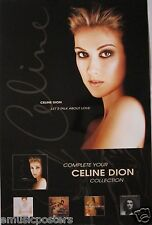 "CELINE DION ""LET'S TALK ABOUT LOVE"" U.S. PROMO POSTER - Adult Contemporary Music"