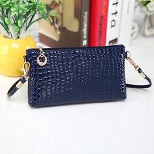 Fashion Women Crocodile Leather Messenger Crossbody Clutch Shoulder Handbag Bag