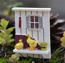 Mini Résine Mur Foncé Maison De Poupée Artisanat Jardin Fée Bonsaï Paysage Décor