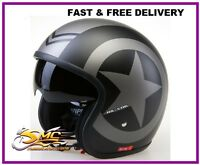 Viper RS-V06 Open Face Motorcycle Helmet Harley Chopper Bobber Custom Cruiser