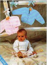 "BABIES~COATS~CARDIGAN~CLASSIC~3 PLY~4 PLY~ DK~KNITTING PATTERN~SIZE 16-22""(U87)"