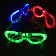 1 PCS LED Glasses Shutter Sunglasses Light Up Shades Flashing Rave Wedding GIFT