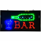 Animated LED open BAR Sign Bright Light shop pub beer neon Sports Cafe man cave