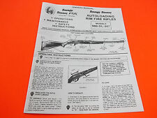 SAVAGE STEVENS FOX MODELS 980-DL-987  AUTOLOADING RIFLE OWNER'S MANUAL