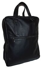 NEW FIRENZE ITALIA PEBBLED TUSCAN LEATHER LAPTOP TOTE BACKPACK BLACK
