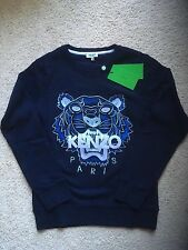 Authentic Kenzo Mens Tiger Embroidered Blue Sweatshirt 2016 (US SELLER) M