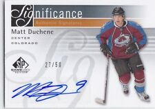 MATT DUCHENE 2011-12 UD SP GAME USED SIGNIGICANCE AUTO #27/50 COLORADO !