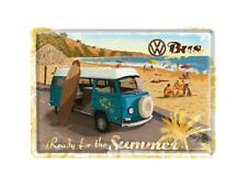 Nostalgic-Art Blechpostkarte 10x14 cm - VW Bulli - Ready for the Summer