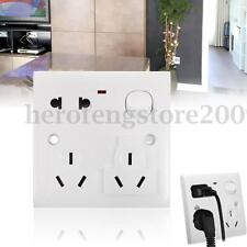 10A 220V Dual Universal Plug Power Point Wall Socket Outlet Panel Plate Switch
