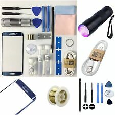 Samsung galaxy S6 edge replacement screen outer glass lens repair kit uk noir