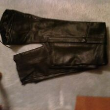 Women Leather Motorcycle Chaps Size Medium   Made By U.s. Made Co