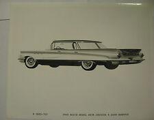 1960 Buick Invicta 4 Door Hardtop Press Photo Side View
