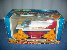 Vintage Ca Star Battery Operated Rescue Space Ship w/ Figure by Asahi