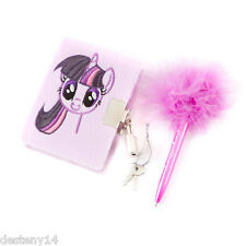 My Little Pony Twilight Sparkle Plush Mini Diary & Fluffy Feather Top Pen Hasbro