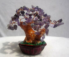 230g Lucky tree!!! Natural pretty Purple Amethyst crystal gem tree/wholesale J01