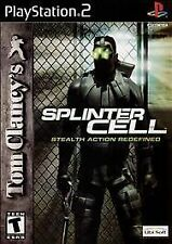 PS II PlayStation 2 Tom Clancy's Splinter Cell Lot M16-51