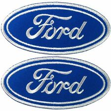 Lot of 2 Ford Motor Sport Car Racing Embroidered Iron on Patch