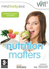 Mind Body & Soul Nutrition Matters Nintendo Wii * NEW SEALED PAL *