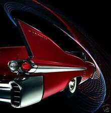 1958 Cadillac Series SIXTY TWO Convertible, Car Art, Refrigerator Magnet, 40 MIL