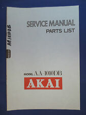 AKAI AA-1010DB RECEIVER SERVICE  MANUAL FACTORY ORIGINAL GOOD CONDITION
