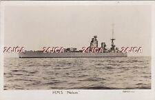 "Royal Navy Real Photo RPPC. HMS ""Nelson"" Battleship. WW11.  Great image! c 1927"