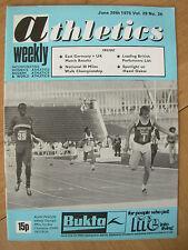 ATHLETICS WEEKLY JUNE 28th 1975 ALAN PASCOE 400m HURDLES